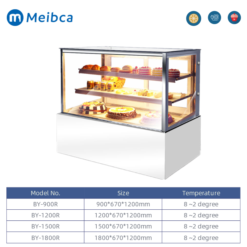 Table Top Glass Door Display Showcase Makanan Penutup
