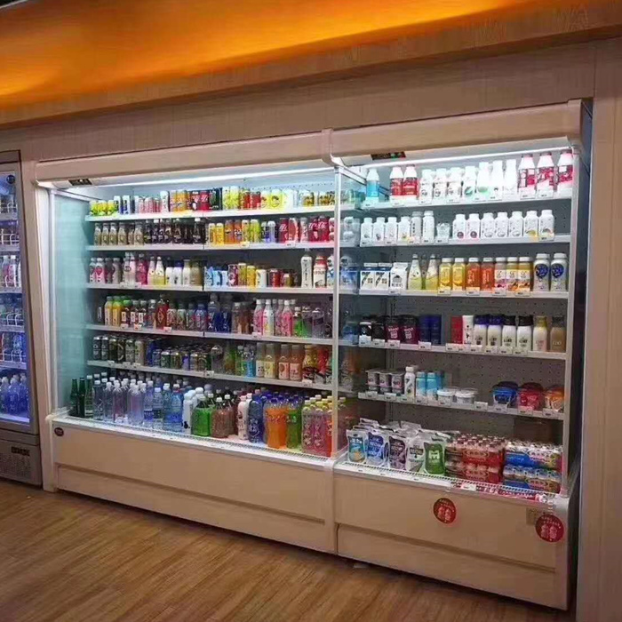 Supermarket Komersial Mutideck Open Refrigeration Mutideck Open Display Cooler