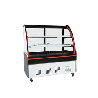 Deli Display Showcase Cooler dengan Pintu Kaca