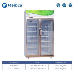Display Minuman Pintu Kaca Tempered Showcase Tegak